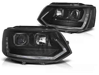 VW T5 facelift strålkastare LED T6 look