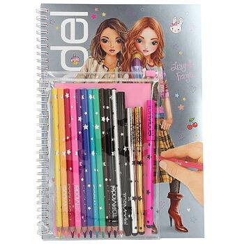 Top Model Designbok med pennor