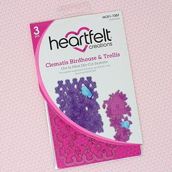 Heartfelt - Clematis  Birdhouse & Trellis - Dies