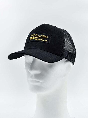 Mitchell & Ness - Box Logo Trucker Black/Gold