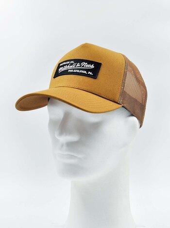 Mitchell & Ness - Box Logo Trucker Tan