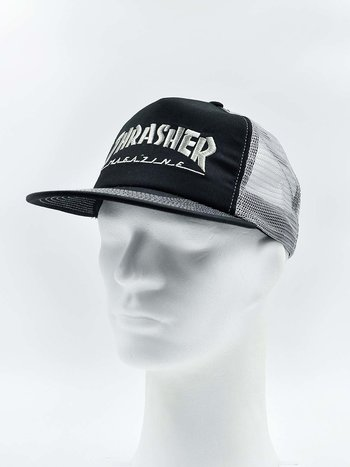 Thrasher - Logo Mesh Cap Black/Grey