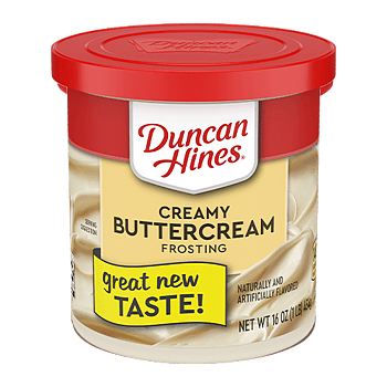 Duncan Hines® buttercream frosting
