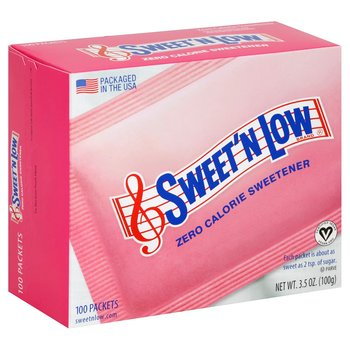 Sweet & Low zero calorie sweetener 100 packages