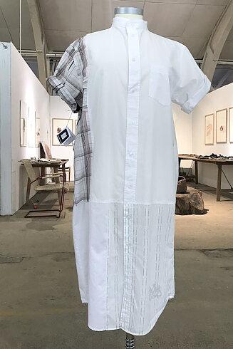 Skjortklänning, vit/svart