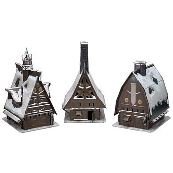 Icons of the Realms: Icewind Dale - Ten Towns Papercraft Set
