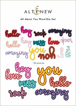 ALTENEW -All About You Word Die Set