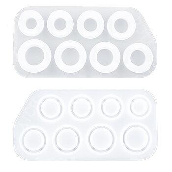 Gjutform  i silikon -   Ringar , Set med 3 olika formar