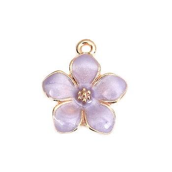 Berlock -  Emaljerad  Blomma, Lila