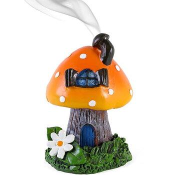 Orange toadstool house Rökelsebrännare