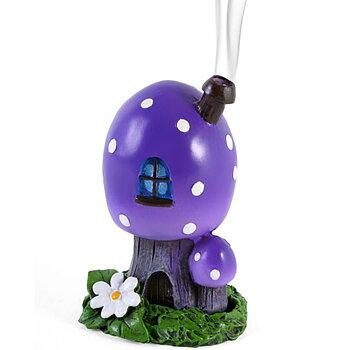 Purple toadstool house Rökelsebrännare