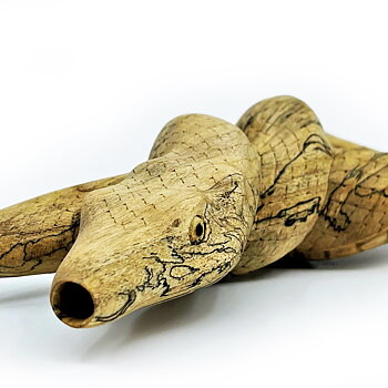 """Serpent Kuripe """"Lemniscate"""" - Crocodile Wood"""