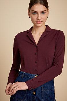 Patty blouse vinröd