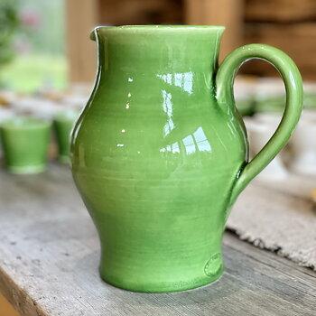Karaff, rund, grön