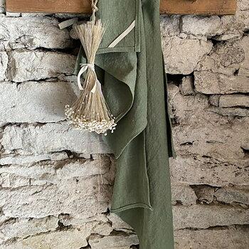 NORA linnehandduk grön