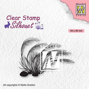Nellies Choice - Clearstamp - Silhouette Bloeiend gras