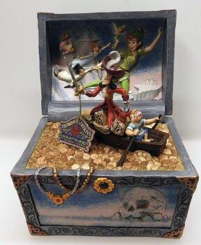 Disney Traditioner Skatt beströdd Tableau - Peter Pan Flygande Scen Figurin
