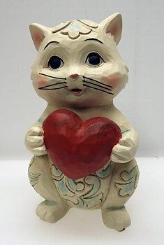 "Jim Shore Jim Shore Heartwood Creek ""Purr-fectly Loved"" 6006225 Pint Sized Cat Figurine"