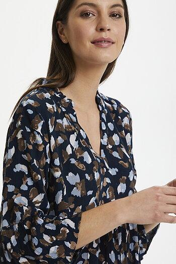 Kaffe - Berna Amber Dress Blue Brown Graphical Paint