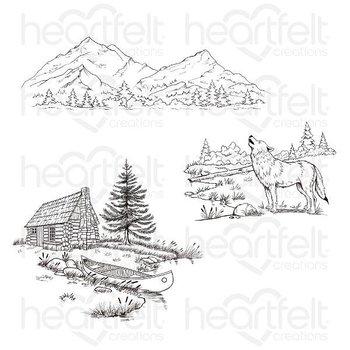 Heartfelt - Stämpelset -  Create a 'scape Backcountry