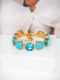 Armband Angelina Aquamarine combo Gold
