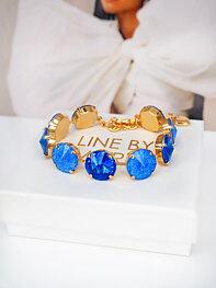 Armband Angelina Sapphire combo Gold
