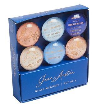 Jane Austen : Glas Magnet Set - Set med 6 kylskåpsmagneter i glas
