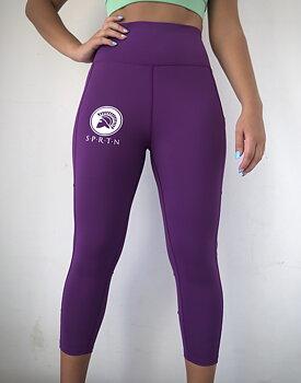 Spartan 3/4 Leggings BASIC/Purple