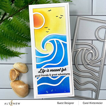 ALTENEW -Abstract Seascape Slim Cover Die
