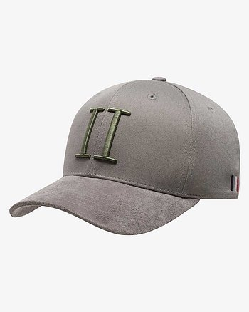 Baseball Cap II Suede Grå/Grön Keps