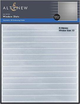 ALTENEW -Window Slats 3D Embossing Folder