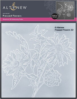 ALTENEW -Pressed Flowers 3D Embossing Folder