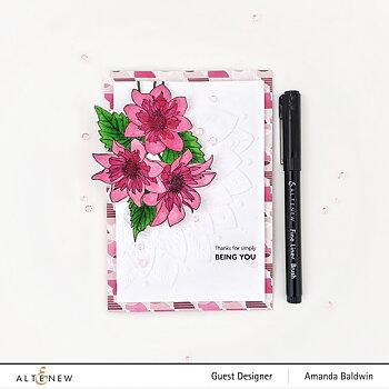 ALTENEW -Paint-A-Flower: Fashion Monger Dahlia Outline Stamp Set
