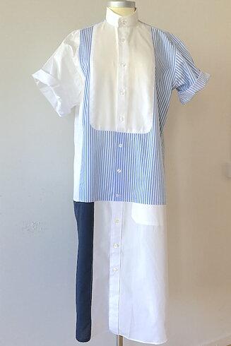 Skjortklänning med skjortbröst