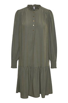 Culture Bianca Dress Army Green
