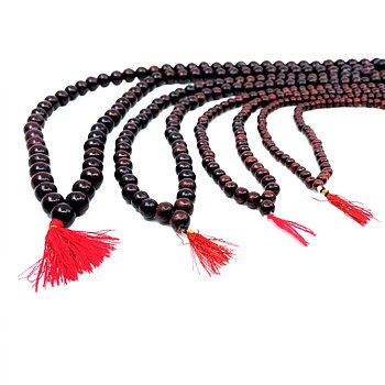 Mala Rosary in Red Colored Sandelwood