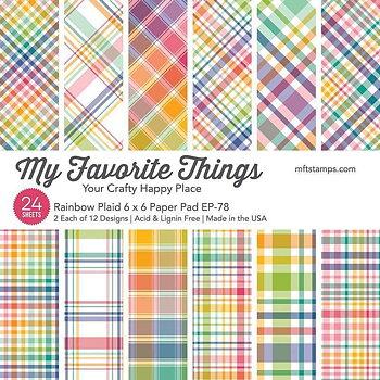 My Favorite Things -MSTN Rainbow Plaid Paper Pad