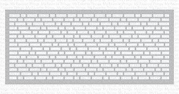 My Favorite Things -Slimline English Brick Wall Stencil WS