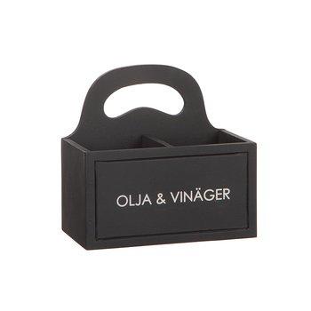 """Wooden box """"Oil & Vinegar"""""""