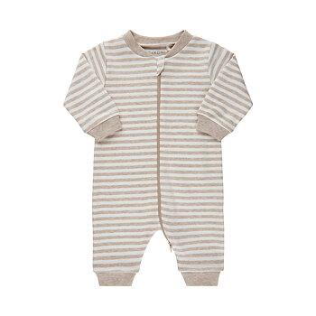 FIXONI - Vit och beige randig pyjamasdräkt utan fot
