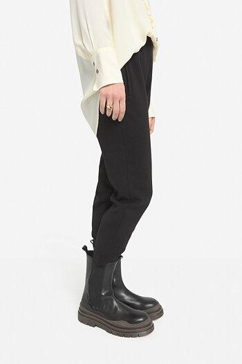 OttodÁme - Cigarette Trousers Black
