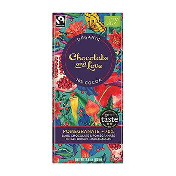 Choklad- Mörk 70% choklad granatäpple
