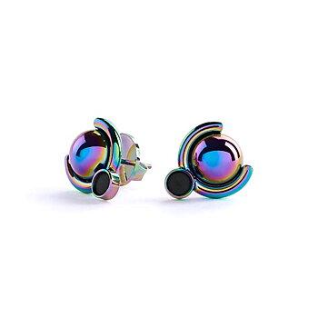 Satellite E4 Rainbow Earrings