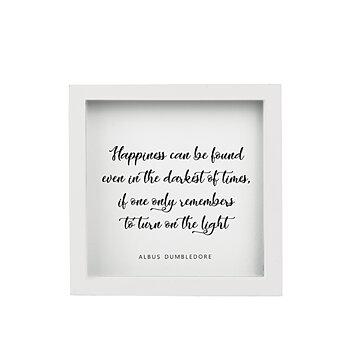 Tavla trä -  Happiness