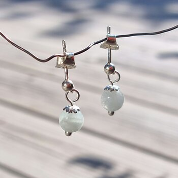 Aquamarine Earrings Mars - 925 Sterling Silver