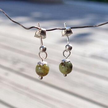 Chrysoprase Earrings May - 925 Sterling Silver