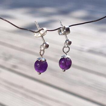 Amethyst Earrings February - 925 Sterling Silver