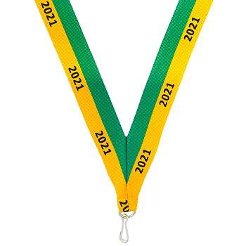 Langt Green/gul medalje bånd 2021