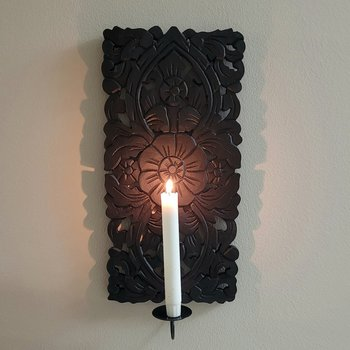 Lampett Flower svart, 20x45 cm