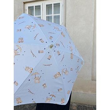 barn paraply - miso regndroppar